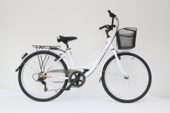 "Bicicleta ULTRA Tonus CTB 26"" alb 420mm"