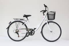 """Bicicleta ULTRA Tonus CTB 26"""" aluminiu alb 420mm"""
