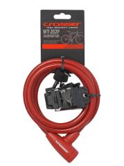Incuietoare cablu CROSSER MT 202P - Cheie - 10mm*1800mm rosu