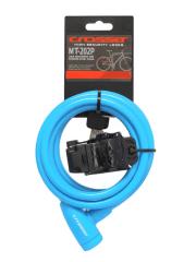 Incuietoare cablu CROSSER MT 202P - Cheie - 10mm*1800mm albastru