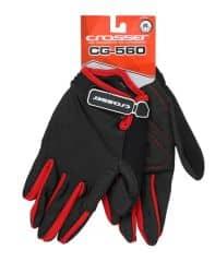 Manusi CROSSER RS-560 cu degete - negru/rosu - M