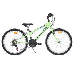 Bicicleta CROSS Speedster otel - 24'' junior - verde