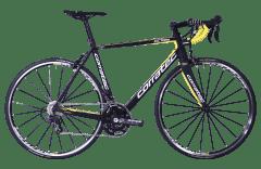 Bicicleta CORRATEC CCT Team LTD carbon / galben neon / alb - 570mm