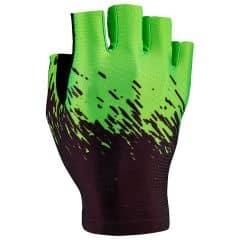 Manusi fara degete  SUPACAZ SupaG - negru / verde neon - M