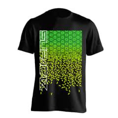 Tricou SUPACAZ - Star Fade - Verde neon/Galben neon XS