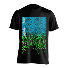 Tricou SUPACAZ - Fader - Verde neon/Albastru neon XL