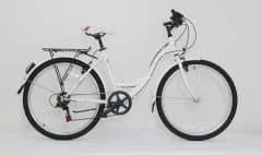 "Bicicleta ULTRA Tonus CTB 26"" alb/gri/roz 460mm"