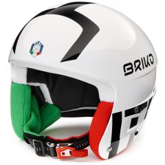 Casca ski BRIKO Vulcano FIS 6.8 FISI Alb/Negru 54