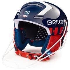 Casca ski BRIKO Slalom USSA Albastru/Alb/Rosu 56