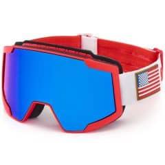 Ochelari ski BRIKO Lava 7.6 USSA Rosu/Alb
