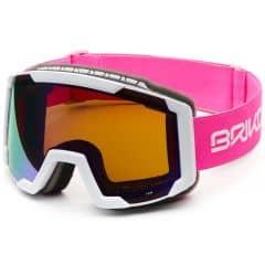 Ochelari ski BRIKO Lava Roz/Alb