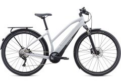 Bicicleta SPECIALIZED Turbo Vado 4.0 Step-Through - Gloss Dove Grey/Black/Liquid Silver S