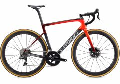Bicicleta SPECIALIZED S-Works Tarmac Disc - Dura Ace DI2 - Satin Crimson/Rocket Red Clean Red/Dove Grey 44
