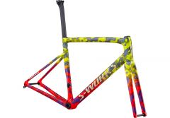Cadru SPECIALIZED S-Works Tarmac Disc - Gloss Team Yellow/Rocket Red/Tarmac Black/Chameleon/Gold Foil 56