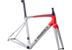 Cadru SPECIALIZED S-Works Roubaix - Gloss/Satin - Dove Gray/Rocket Red/Back 56