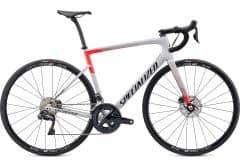 Bicicleta SPECIALIZED Tarmac Disc Comp - Ultegra DI2 - Gloss Dove Grey/Rocket Red/Tarmac Black 58