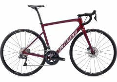 Bicicleta SPECIALIZED Tarmac Disc Comp - Ultegra DI2 - Gloss Cast Berry/Metallic Crimson/Dove Grey 61