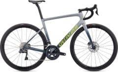 Bicicleta SPECIALIZED Tarmac Disc Expert - Satin Cool Grey/Cast Battleship/Team Yellow 44