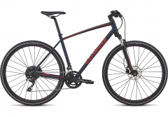 Bicicleta SPECIALIZED Crosstrail Elite - Satin Cast Blue/Rocket Red/Rocket Red Reflective M