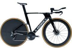 Bicicleta SPECIALIZEDS-Works Shiv TT Disc - Gloss Tarmac Black/White L