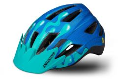 Casca copii SPECIALIZED Shuffle LED MIPS - Neon Blue/Acid Mint Slime - Youth