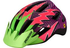 Casca copii SPECIALIZED Shuffle LED MIPS - Monster Green/Acid Pink Lightning - Child
