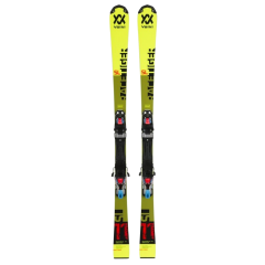 Schiuri VOLKL Racetiger Yellow cu legaturi Marker VMotion 4.5 Galben 80cm