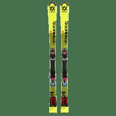 Schiuri VOLKL Racetiger Yellow cu legaturi Marker VMotion 7.0 Galben 110cm