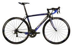 Bicicleta CORRATEC CCT Team 105 Carbon mat / Albastru neon 550mm