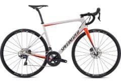 Bicicleta SPECIALIZED Tarmac SL6 Comp Disc - Gloss Metallic White Silver/Rocket Red/Tarmac Black 54
