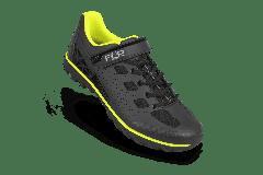 Pantofi ciclism FLR Rexston Mtb - Negru/Galben neon 44
