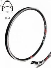 Janta CROSSER X3 27.5'' 36H negru