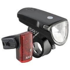 Far + stop AXA Greenline 35 lux USB 1 led negru