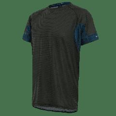 Tricou alergare FUNKIER Cassoti - Negru/Albastru 3XL