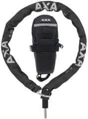 Incuietoare lant AXA Plug-in RLC + gentuta sa 100cm/5,5mm - Negru