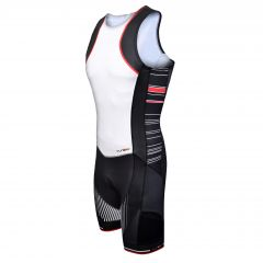 Costum triathlon FUNKIER Licata Men Pro - Alb/Negru 2XL