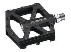 Pedale CROSSER VP-001 rulmenti - aluminiu - negru
