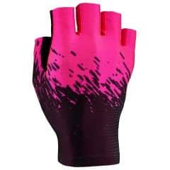 Manusi fara degete SUPACAZ SupaG - Negru/Roz neon