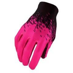 Manusi cu degete SUPACAZ SupaG - Negru/Roz neon