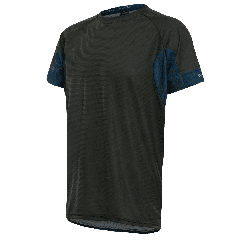 Tricou alergare FUNKIER Cassoti - Negru/Albastru