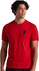 Tricou SPECIALIZED Men's S-Logo SS - Flo Red