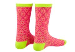 Sosete SUPACAZ Asanoha - Roz neon/Galben neon