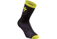 Sosete SPECIALIZED SL Elite Winter - Black/Neon Yellow
