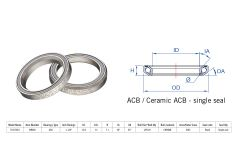 "Rulment cuvete FSA TH-873/DJ ACB 36x45 1""1/8 singleS MR040"