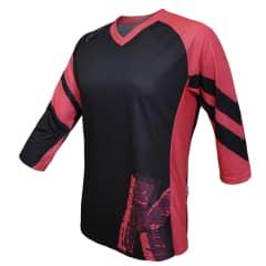 Tricou FUNKIER Dolomiti-W Enduro Women 3/4 sleeve - Black/Pink
