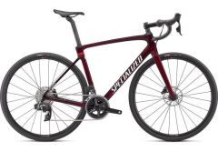 Bicicleta SPECIALIZED Roubaix Comp - Gloss Red Tint Carbon/Metallic White Silver 58